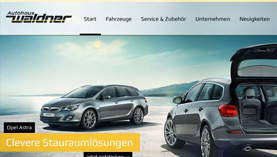 Autohaus Waldner - PSD to WordPress Development